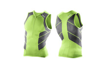 2XU Men's Comp Tri Singlet vibrant green/charcoal